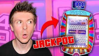 I WON THE PLINKO JACKPOT AT THE ARCADE!!