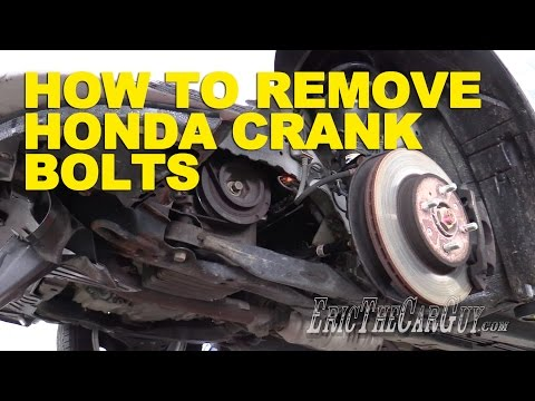 How To Remove Honda Crank Bolts -EricTheCarGuy