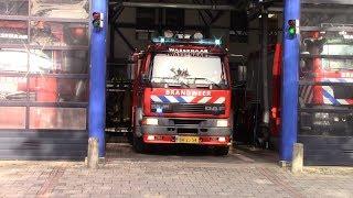 Brandweer Wassenaar TS 15-5030 met spoed naar een ongeval in Wassenaar
