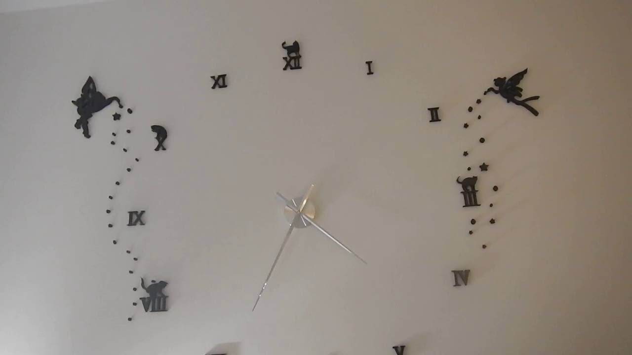 3d wall clock modern large youtube 3d wall clock modern large amipublicfo Image collections