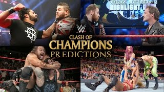 WWE Clash of Champions 2016 Full Match Card Predictions!