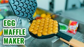 How to Make Egg Waffle by Commercial Bubble Egg Waffle Maker