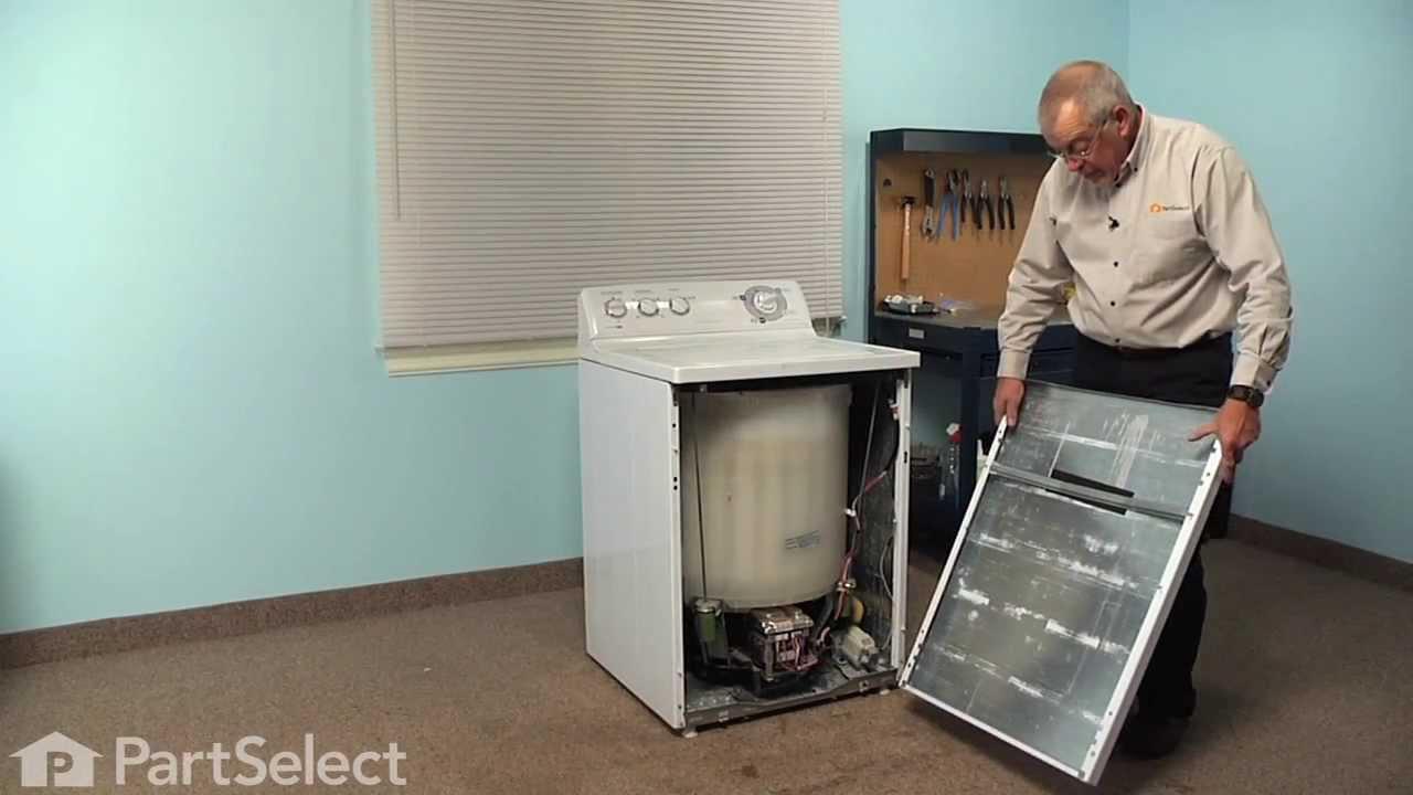 Washing Machine Repair - Replacing the Tub to Pump Hose (GE Part ...