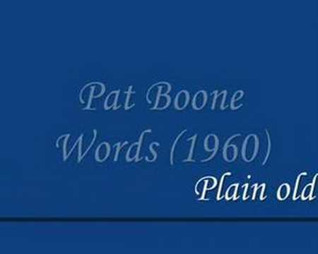 Pat Boone - Words (1960)