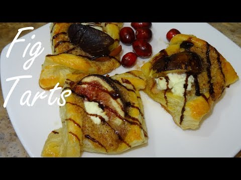 Fig Tarts - Fig Tart Recipe with Puff Pastry