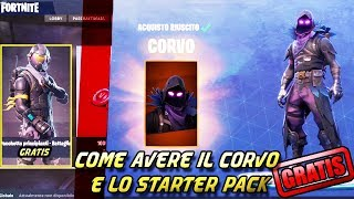 HOW TO HAVE THE FREE CORVO AND THE STARTER PACK Fortnite Royal Battle