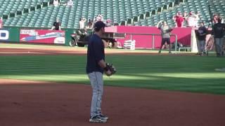 Evan Longoria Taking Infield Practice