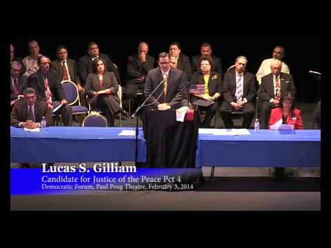 Lucas Gilliam - Candidate for Justice of the Peace Pct 4