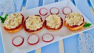 Вкус удовольствия.Закусочные бутерброды с печенью трески.Рецепты закусок.