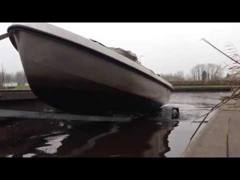 Stainless Steel Sloop Pickup - Trailer RVS sloep