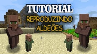 Minecraft - Criando uma Vila de Aldeões - Vila dos Tutoriais