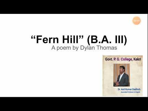 Fern Hill-1by Dylan Thomas (BA III) ENGLISH
