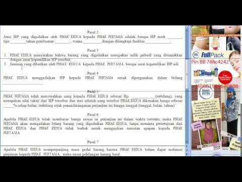 Video Surat Perjanjian Gadai Hp Youtube