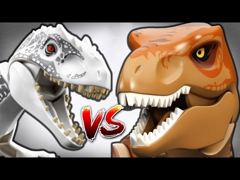 TYRANNOSAURUS REX Vs INDOMINUS REX - LEGO Jurassic World