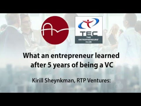 AmBAR/TEC Club event with Kirill Sheynkman, RTP Ventures