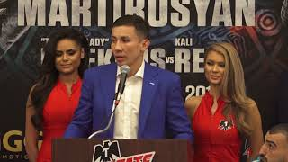 Gennady Golovkin & Vanes Martirosyan press conference comments and face off