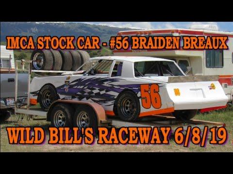 In Car - IMCA Stock Car - #56 Braiden Breaux - Wild Bill's Raceway 6/8/19