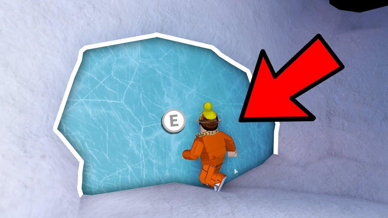 *GOING INSIDE* SECRET ICE CAVE DOOR in JAILBREAK! (Roblox Jailbreak)