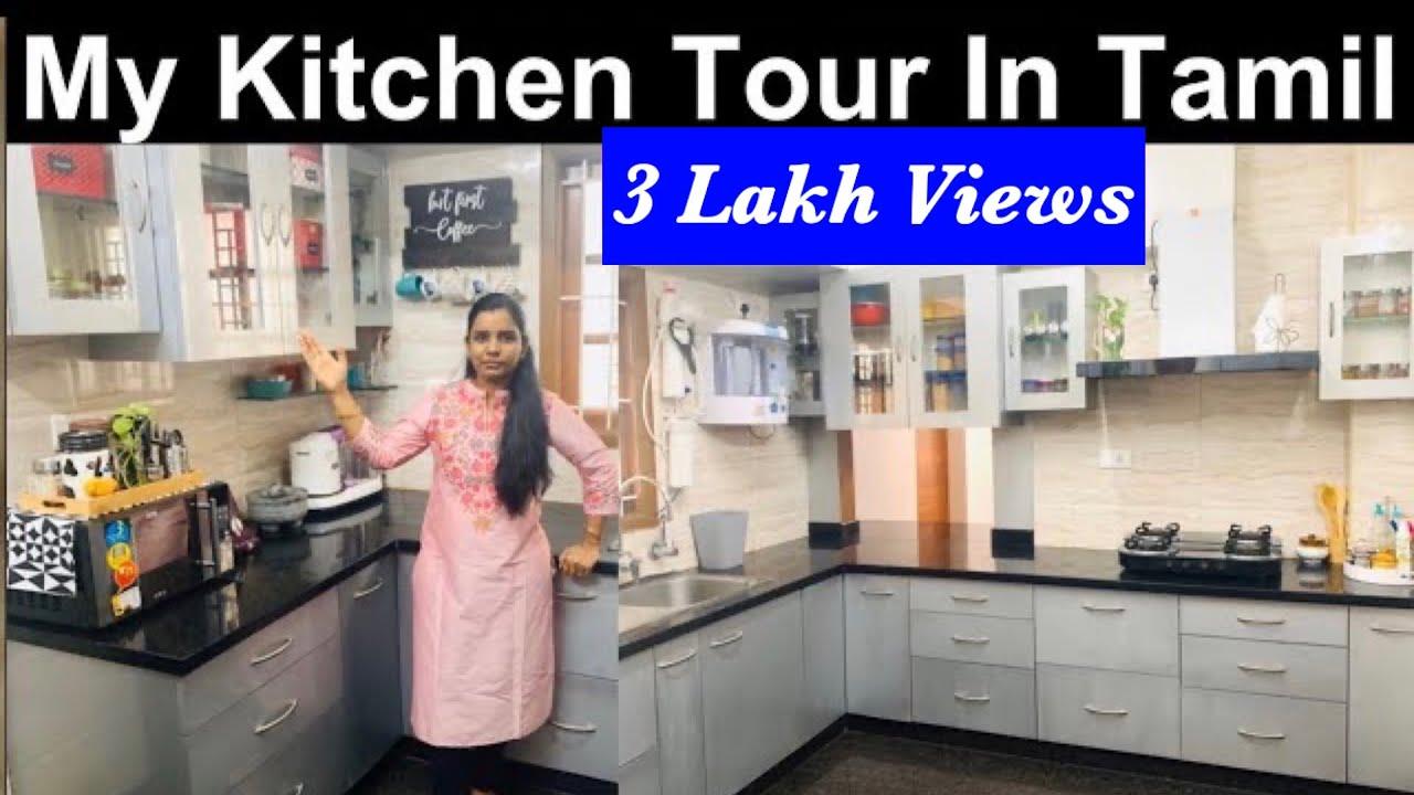 Kitchen Tour Part 20  Kitchen organisation Idea Kitchen Tips in Tamil