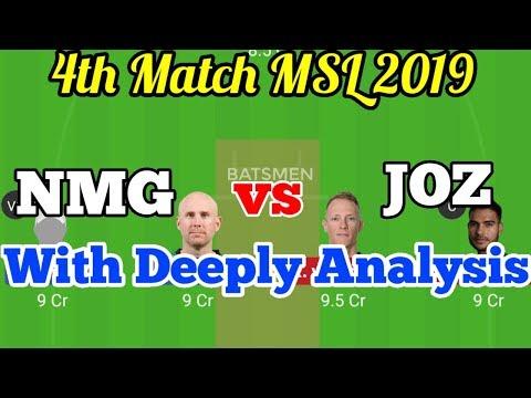 NMG Vs JOZ Dream11 Predictions, Nelson Mandela Bay Giants Vs Jozi Stars, Mzansi Super League 2019, 4