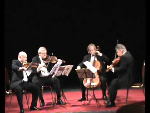 Charles Ives String Quartet no. 1 IV:Allegro marziale. Stamic Quartet live at Levoca