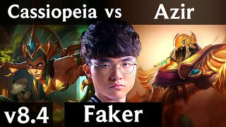 SKT T1 Faker - CASSIOPEIA vs AZIR (MID) // Korea Challenger // Patch 8.4