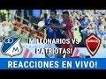REACCIONES EN VIVO⚽ [Patriotas Vs Millonarios] Liga Aguila - Austin - Fecha 15 - Fpc