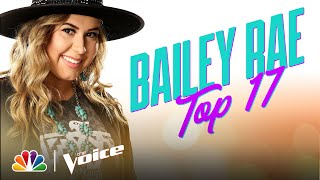 "Bailey Rae Sings the Kenny Rogers Classic ""Sweet Music Man"" - The Voice Live Top 17 Performances"