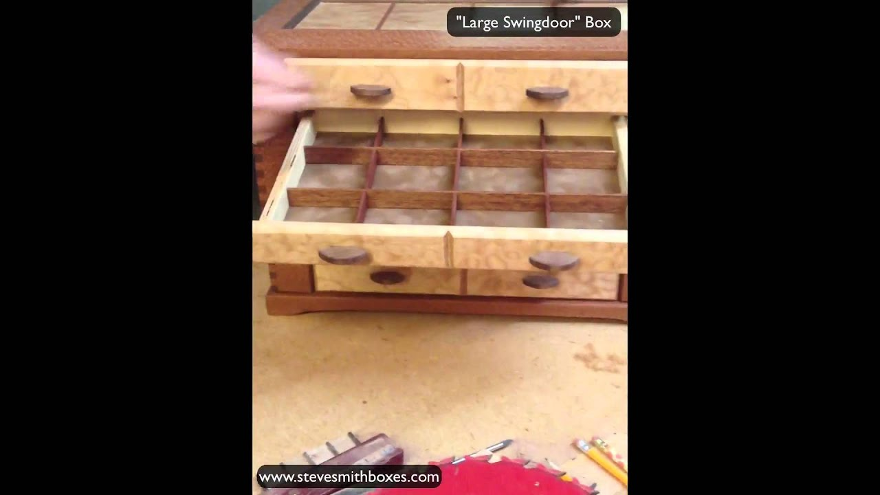 Jewelry Organizer Handmade Wooden Jewelry Box Youtube