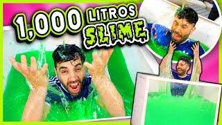 Hicimos 1000 litros de Slime en la Caja Trasparente 😮