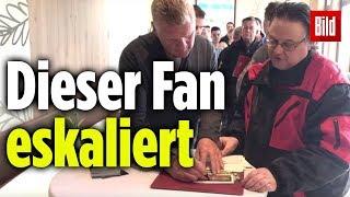 Eine Geduldsprobe für Effenberg: Dieser Fan will immer mehr Autogramme