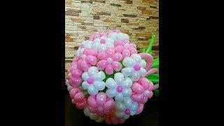Как сделать ромашку из ШДМ(длинного шара),ромашка из шаров/flower bulbs
