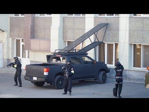 В Ереване бандиты захватили здание газовой компании в ходе учений