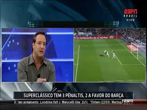 Penalty a Neymar Clasico en el Bernabéu 23 03 2014 1era Parte