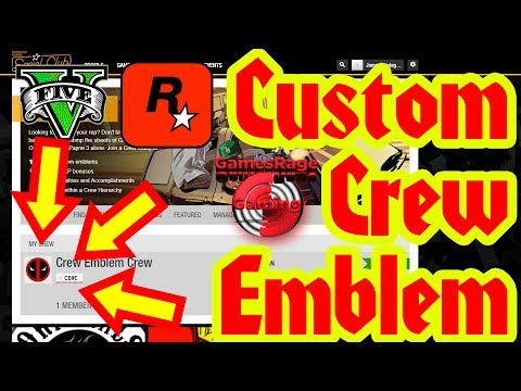 GTA5 : How To Get A Custom Crew Emblem (*AUGUST*) (Rockstar Social Club Method)