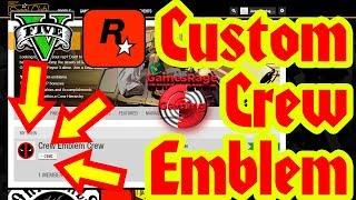GTA5 : How To Get A Custom Crew Emblem (*AUGUST*) (Rockstar Social Club Method)