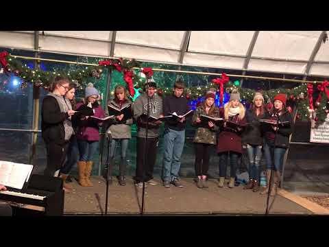 Wauzeka High School Choir, Rotary Lights, Dec. 21, 2017