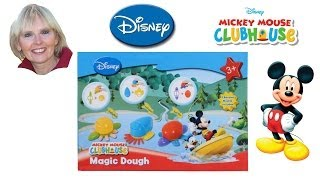 ♥♥ Disney Mickey Mouse Playhouse Magic Dough With 2 Random Animal Moulds