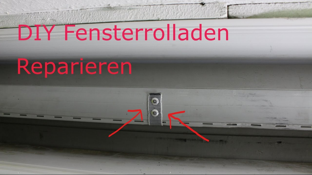 Fenster rolladen jallousie reparieren youtube for Fenster reparieren