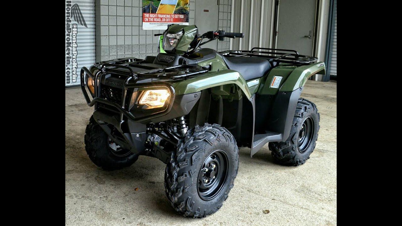 2016 Honda Rubicon 500 ATV Walk-Around Video | TRX500FM5G ...