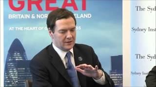 George Osborne at The Sydney Institute -
