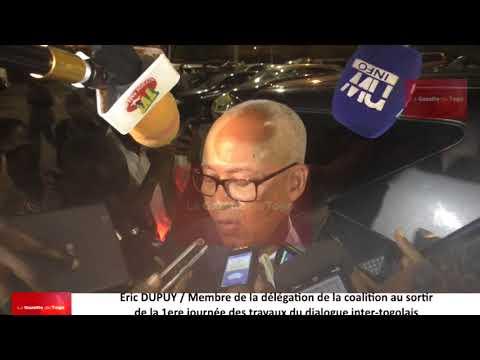 Eric DUPUY de la coalition des 14 partis politiques de l'opposition au terme des travaux