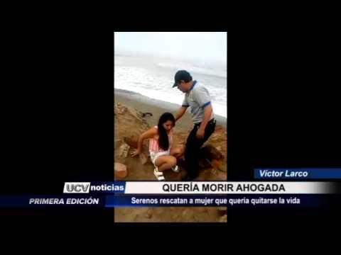 Víctor Larco: Mujer trató de ahogarse y fue rescatada por serenazgo