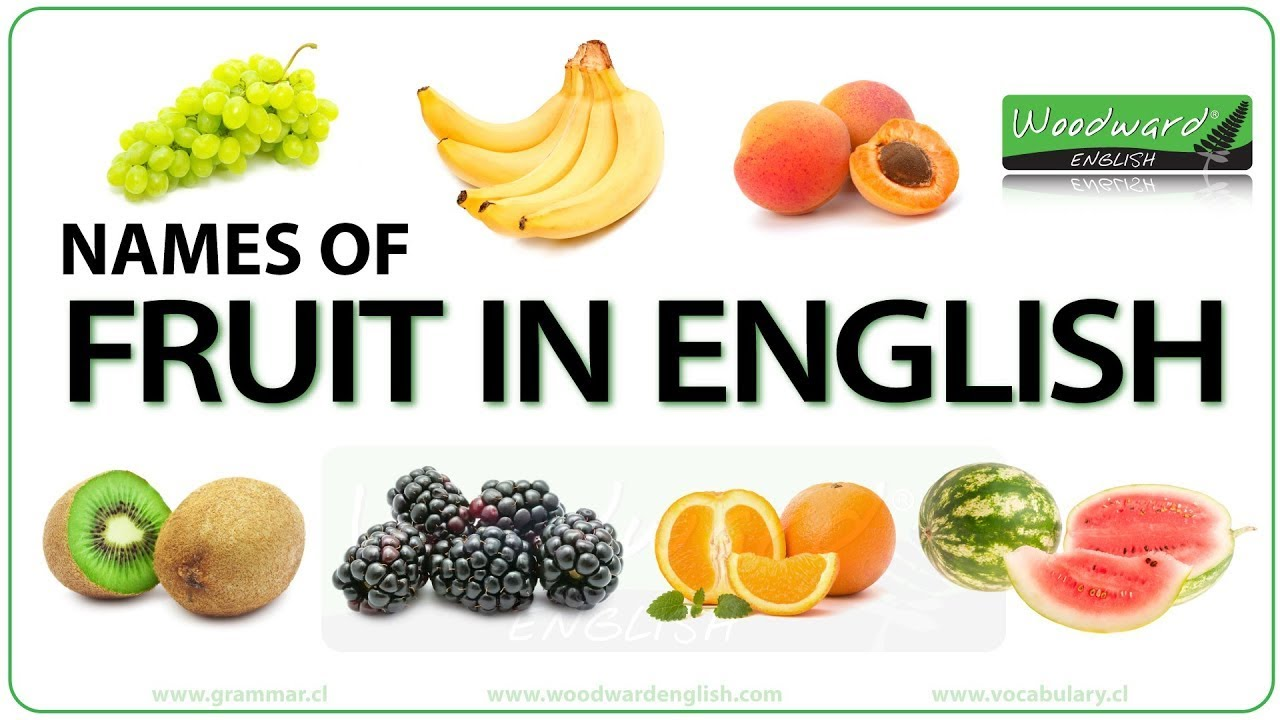 Fruit and Vegetables in English | Woodward English
