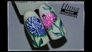 🌸 Дизайн ногтей АСТРА 🌸  ЦВЕТЫ на ногтях 🌸 Дизайн ногтей гель лаком 🌸 Nail Design Shellac 🌸