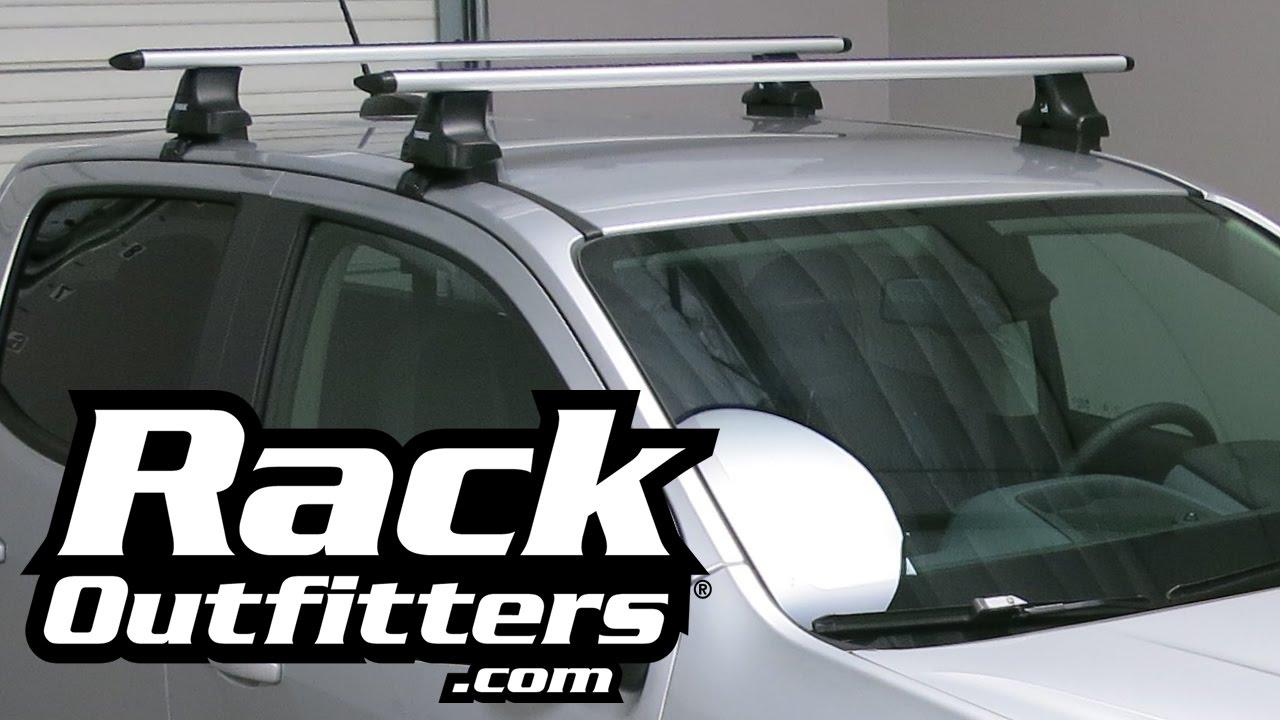 Chevrolet Colorado Thule Silver Aeroblade Roof Rack 2015