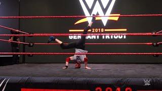 Sergii Shykin's breakdance skills impress at WWE tryout in Germany
