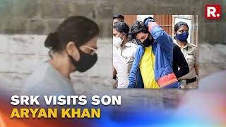 Watch: Shah Rukh Khan Visits Son Aryan Khan At Arthur Road Jail in Mumbai