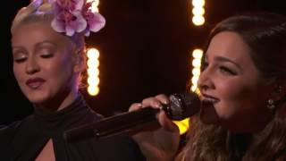 The Voice 2016 Alisan Porter and Christina Aguilera   Finale  'You've Got a Friend'