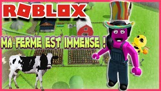 MA FERME EST IMMENSE ! | Roblox Welcome To Farmtown